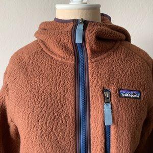 Patagonia Brown Teddy Style Zip Up Hoody